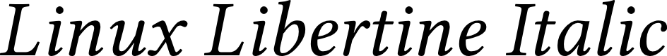 Preview image for Linux Libertine Italic