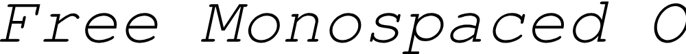 Preview image for Free Monospaced Oblique