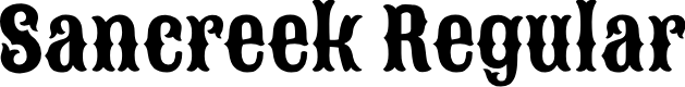 Preview image for Sancreek Regular Font