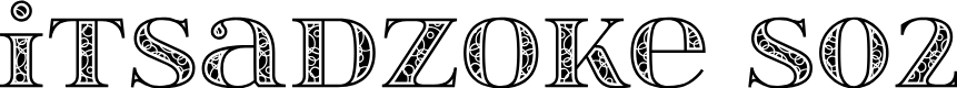 Preview image for itsadzokeS02 Font