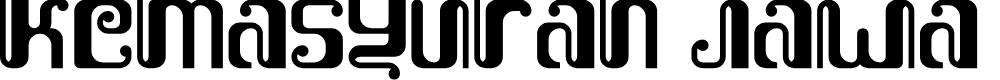 Preview image for Kemasyuran Jawa Regular Font