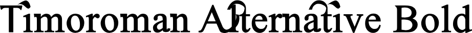 Timoroman Alternative Bold
