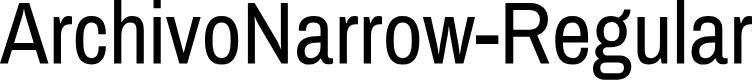 Preview image for ArchivoNarrow-Regular Font
