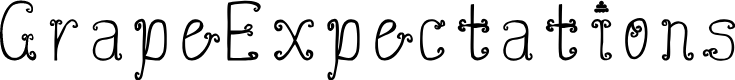 Preview image for GrapeExpectations Font