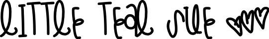 Preview image for LittleTealSue Font