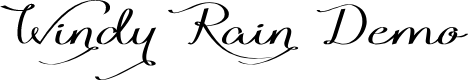 Preview image for Windy Rain Demo Font