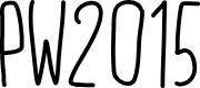 Preview image for PW2015 Font