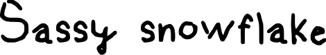 Preview image for Sassy snowflake Medium Font
