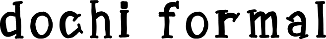 Preview image for dochi formal Font