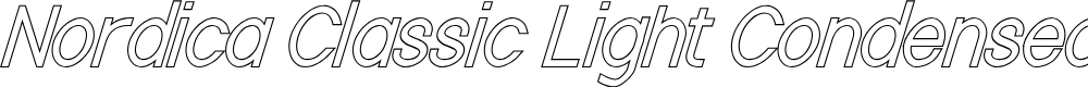Preview image for Nordica Classic Light Condensed Oblique Outline