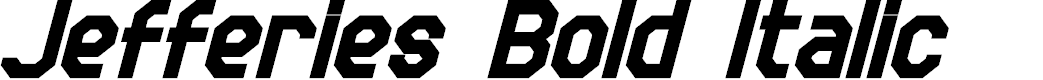 Preview image for Jefferies Bold Italic