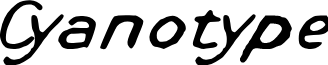 Cyanotype font
