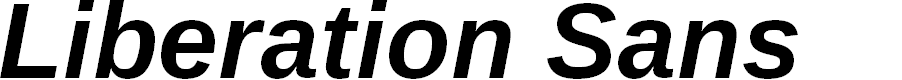 Preview image for Liberation Sans Bold Italic