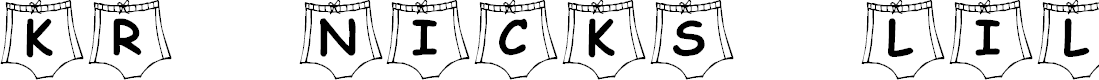 Preview image for KR Nick's Lil Swimsuit Font