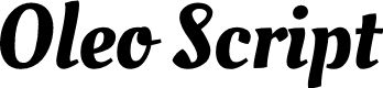 Preview image for Oleo Script Font