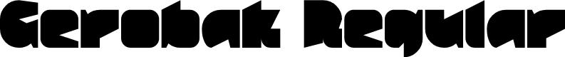 Preview image for Gerobak Regular Font