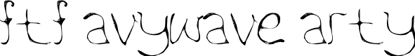 Preview image for FTF Aywave Arty Font