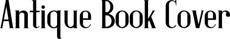 Preview image for Antique Book Cover Font
