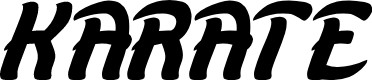 Preview image for KARATE Font