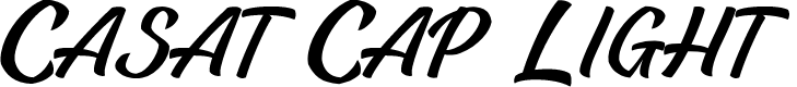 Preview image for Casat Cap Light PERSONAL USE Font