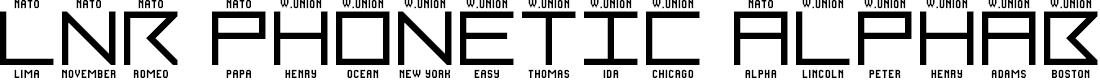 Preview image for LNR Phonetic Alphabet Regular Font