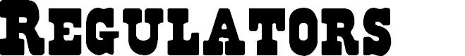 Preview image for Regulators Font