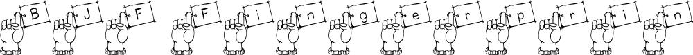 Preview image for BJF Fingerprint Font