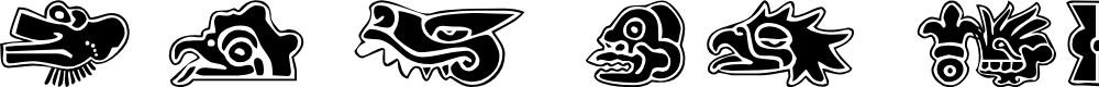 Preview image for 101! Aztec SymbolZ Font