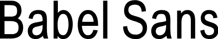 Preview image for BabelSans Font