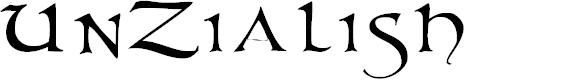 Preview image for UnZialish Font