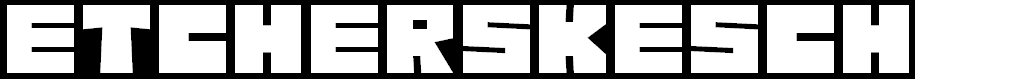 Preview image for EtcherSkesch Regular Font