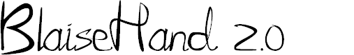 Preview image for BlaiseHand 2.0 Font