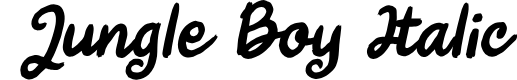 Preview image for Jungle Boy Italic Font