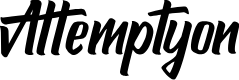 Preview image for Attemptyon Font