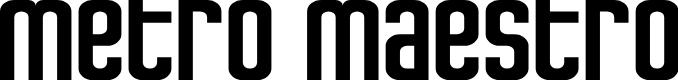 Preview image for Metro Maestro Regular Font
