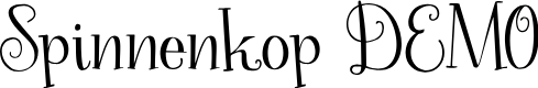 Preview image for Spinnenkop DEMO Regular Font
