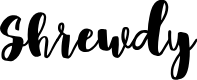 Preview image for Shrewdy Font