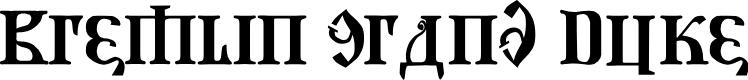 Preview image for Kremlin Grand Duke Font