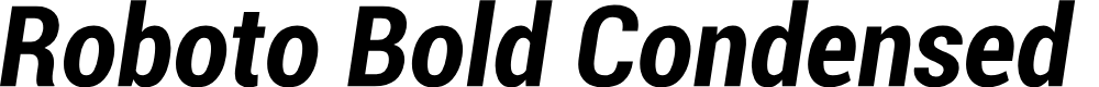 Preview image for Roboto Bold Condensed Italic