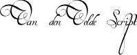 Preview image for Van den Velde Script Font