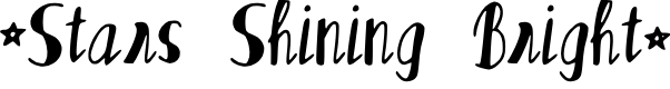 Preview image for Stars_Shining_Bright Font