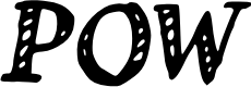 Preview image for POW_ Font