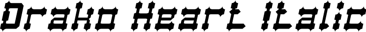 Drako Heart Italic