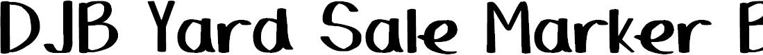 Preview image for DJB Yard Sale Marker Bold