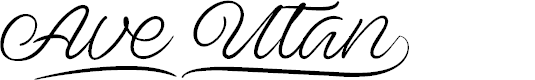 Preview image for Ave Utan PERSONAL USE ONLY Font