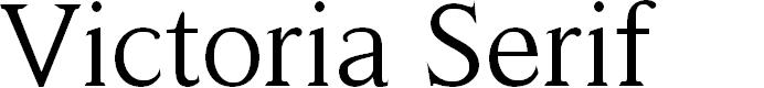 Preview image for Victoria Serif