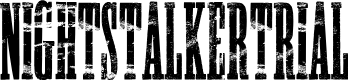 Preview image for NIGHTSTALKER-TRIAL Font