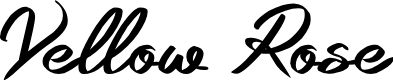 Preview image for Yellow Rose Font