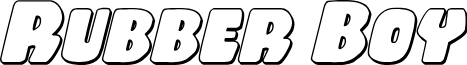Rubber Boy 3D Italic