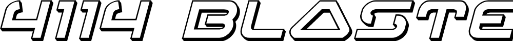 Preview image for 4114 Blaster 3D Italic